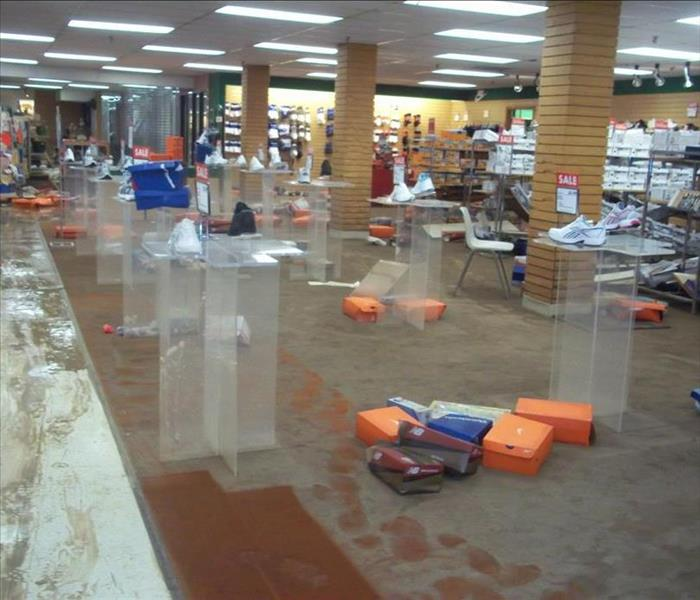 Flooded Department Store Binghamton, NY Before