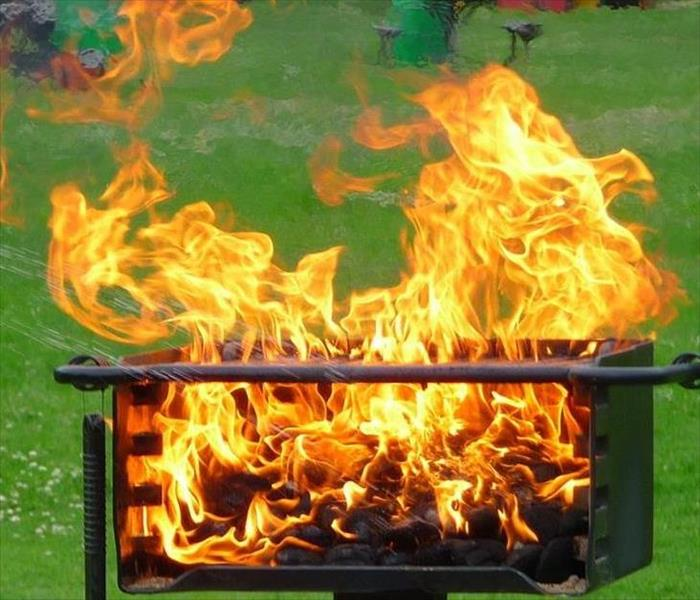 Fire Damage Grill Safety this Summer